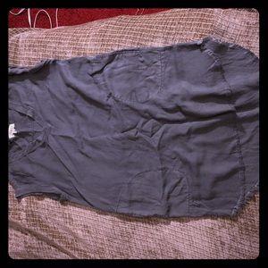 Gray CLOTH & STONE- v necked mid dress